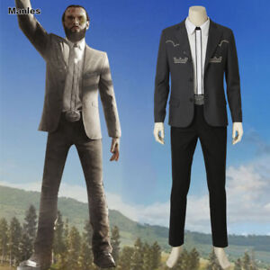 Far Cry 5 Inside Eden S Gate Costume The Father Cosplay Joseph Seed Outfits Men Ebay