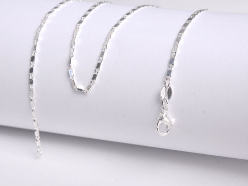 1PCS 16-30inch 925 Silver Smooth Chain Necklace Accessorie Jewelry Necklace