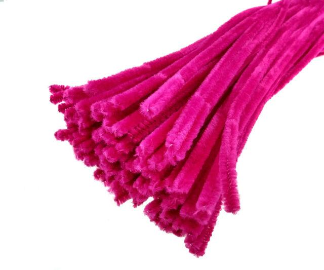 URSUR Chenilledraht Pfeifenreiniger 50cm 10 Stück metallic-pink