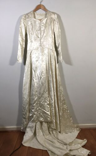 Antique 1930's Silk Satin Wedding Dress