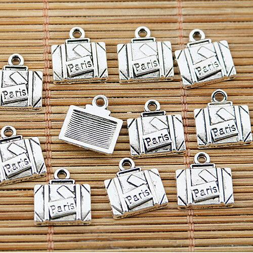 40pcs tibetan silver tone Paris lettering charms EF1590