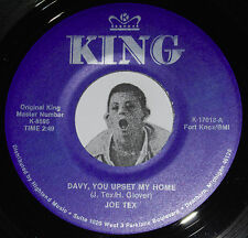 """R&B 45~JOE TEX~Davy You Upset My Home / Biggest Mistake~King Twin Spin CLEAN 7"""""""