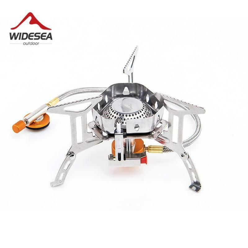Widesea Wind proof outdoor gas burner camping stove  lighter tourist equipment ki  new listing