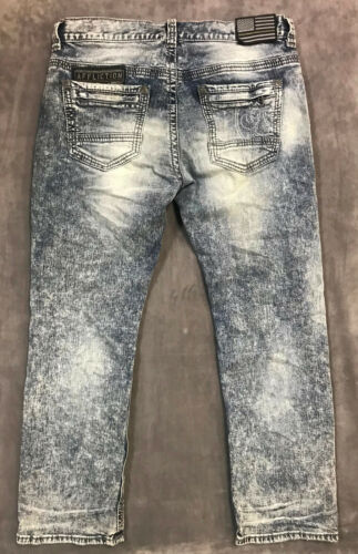 NEW AFFLICTION MENS STRAIGHT COOPER VECTOR JEANS IN GOUGLAS SZ 36//32