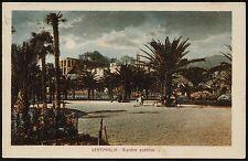 AX0180 Imperia - Provincia - Ventimiglia - Giardini Pubblici - 1927 old postcard