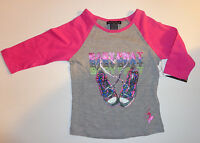 Baby Phat Girls 3/4 Sleeve Shirt Sz 4 XS, 5-6 S, 7-8 Medium and 10-12 Large NWT