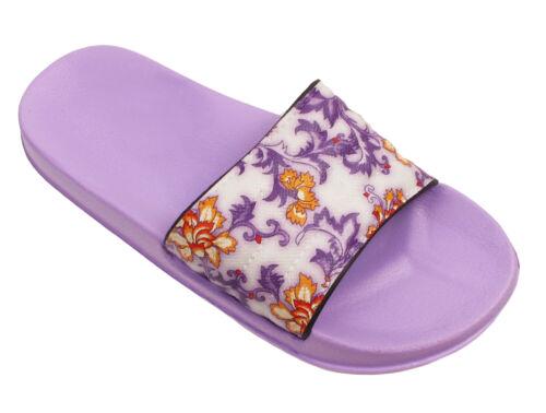 Ladies Women Floral Sports Beach Slider Slippers Flip Flops Sandals Mules Size