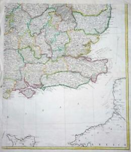 Map Of England Kent.Details About C1780s Huge Antique Map South East Coast England Kent Sussex Essex Etc Lm4