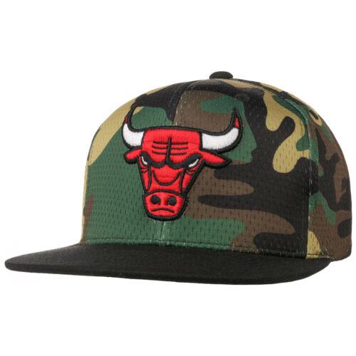 MITCHELL /& NESS Woodland Camo Bulls Cap NBA-Cap Basecap Baseballcap Snapback