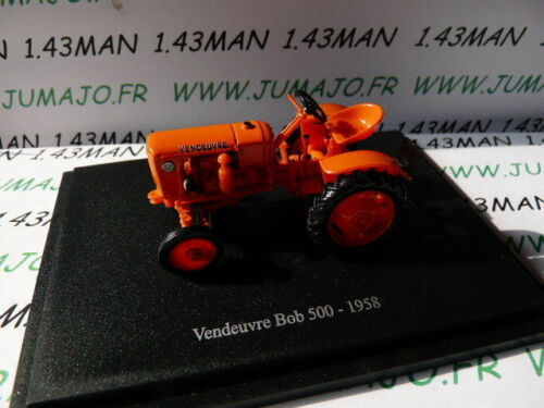 TR61W Tracteur 1//43 universal Hobbies n° 97 VENDEUVRE Bob 500 1958