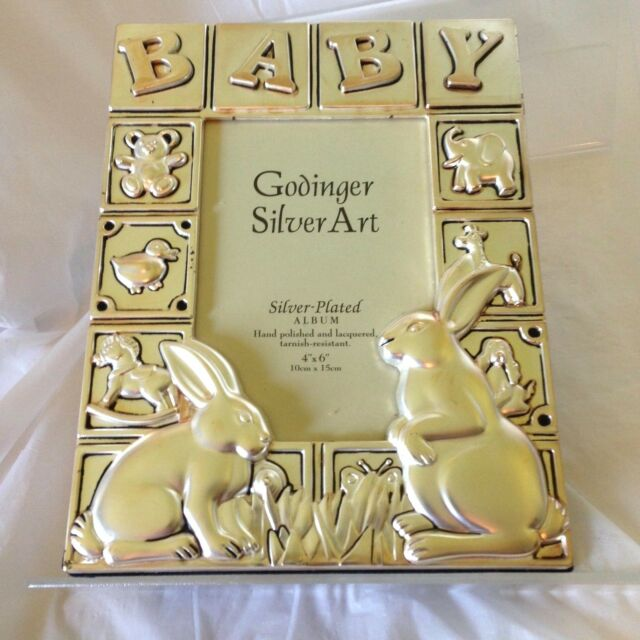 Godinger Silver Plated Baby Photo Album for 4
