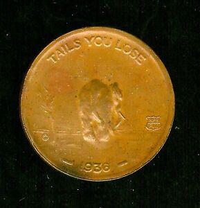 Exonumia Other Exonumia 1936 Fdr Roosevelt Garner Democratic Token Rev Elephant Tails You Lose Nice Au