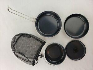 5 Piece Aluminum Camping Hiking Gear Cookware Mess Kit Backpacking Set Ebay