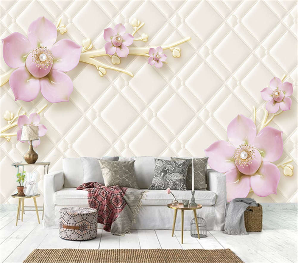 Pink Peach Blossom 3D Full Wall Mural Photo Wallpaper Printing Home Kids Decor