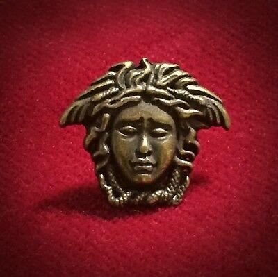 "Diameter 22.73 mm One Versace Medusa Black//Antique Brass Button 0.895"""
