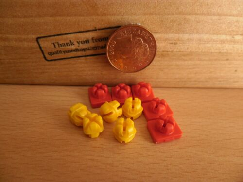 4676 Red /& Yellow System X Clips x 10 house plane farm