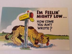 Vintage US Mail Cartoon Crying Dog When Will You Write