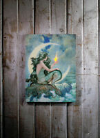 Mermaid With Flickering Light Radiance Lighted Canvas Wall Art 71342