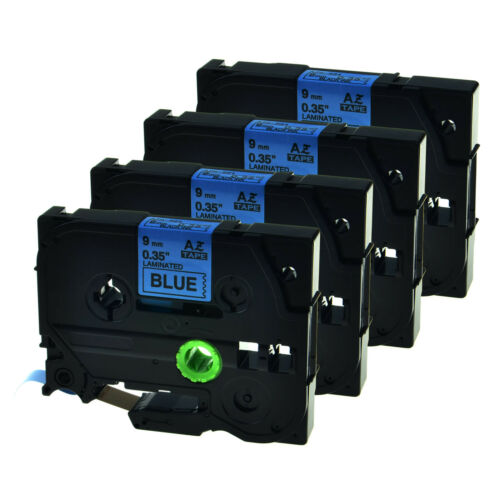 4 PK Black on Blue Label Tape For Brother TZ521 TZ 521 TZe 521 TZe521 PT-P750W