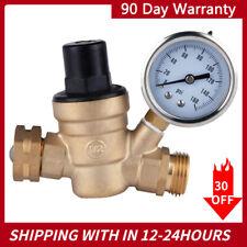 3 4 Rv Water Pressure Regulator Lead Free Brass Adjustable Reducer And Gauge