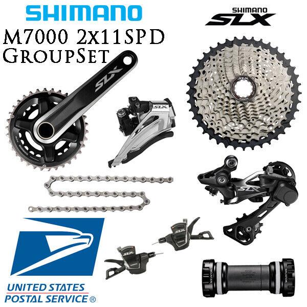 Shimano SLX M7000 2x11 22 velocidad de piezas 40T 42T 7 un. con soporte inferior Bicicleta de montaña