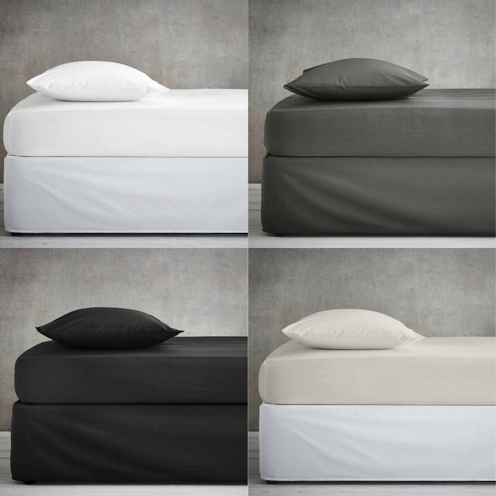4FT Double Small Polycotton Fitted Sheets,4FT mattress Protectors OR Pillowcase