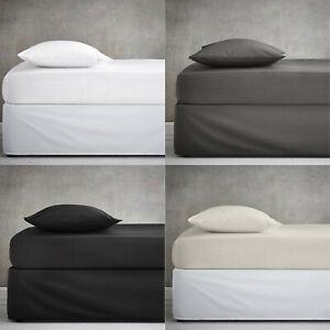 Deep-poly-coton-drap-housse-drap-pour-lit-simple-double-4-ft-environ-1-22-m-King-Size