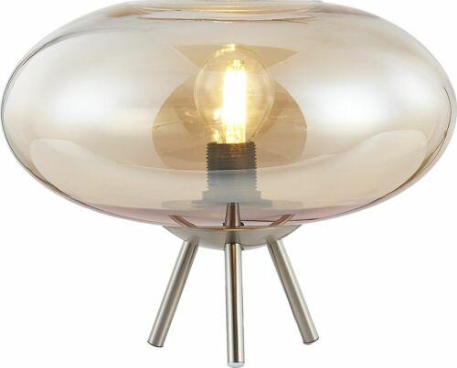 Tischleuchte Nino Lille 50040123 Beistelllampe Schnurschalter Amber Glas E14