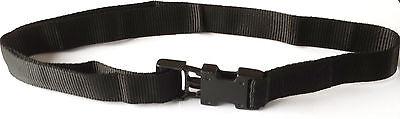 """Inteligente Bambino Nero 25mm In Polipropilene Tessitura Cintura Fibbia Sgancio Rapido Età 4-7 (tl24"""")-mostra Il Titolo Originale"""