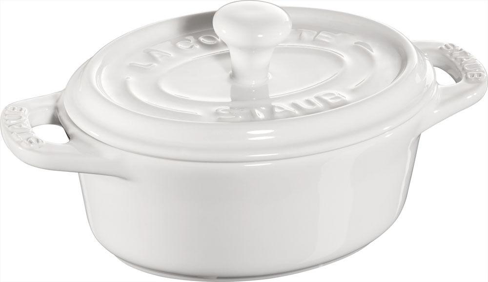 Staub Cerámica 6 Set Mini Cocotte, Ovalado blancooo 11cm Fuente PARA GRATINAR