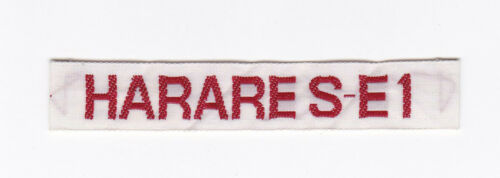 Extinct AFRICA SCOUTS OF ZIMBABWE HARARE SE 1 DISTRICT SCOUT STRIP Patch