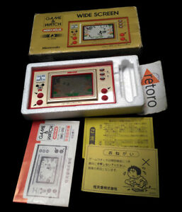 MICKEY-MOUSE-Nintendo-GAME-amp-WATCH-LCD-Handheld-Wide-Screen-Tested-Complete