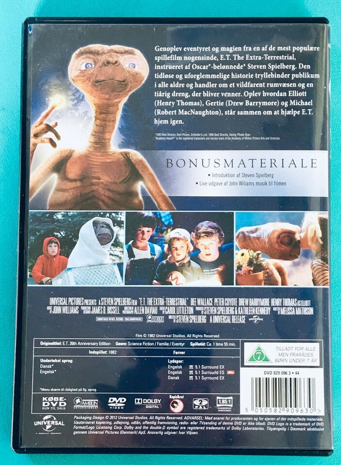 E.T. The Extra-Terrestrial , DVD, science fiction