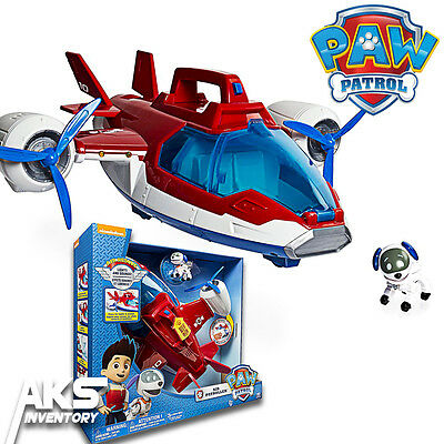PAW Patrol Air Patroller Lights & Sound Helicopter & Plane Robopup Figure New