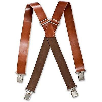 Brimarc Leather Braces AP501310 35mm Mens Heavy Duty Braces