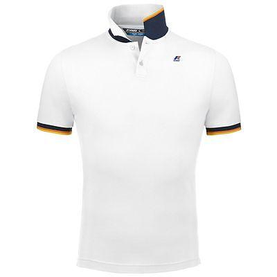 K-WAY K WAY VINCENT CONTRAST Slim SPRING 2017 Polo Shirt Man Fashion White