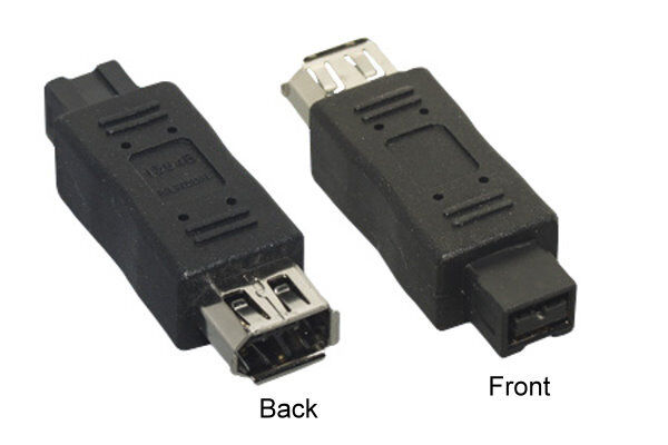 Firewire 400/800 IEEE1394 9 Pin Male to 6 Pin Female Converter Adapter Coupler