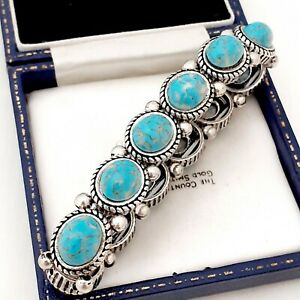 A-Really-Super-Vintage-Turquoise-Blue-Marble-Peking-Glass-Elasticated-Bracelet
