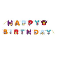 Wow Wow Wubbzy Happy Birthday Banner Party Supplies Hanging Decorations Nickjr