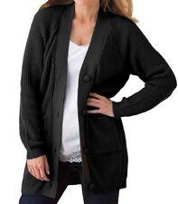 Woman Within Plus Size Dark Sapphire Shaker Knit Cardigan 3X(30W/32W)