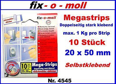 10 Stk Nr 4545 Megastrips Selbstklebend 1 Kg / Strip 20 X 50mm