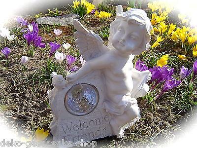 Engel Statue Led Solar Power Licht Wasserdichte Wandleuchte Garten Nett Out P5F2