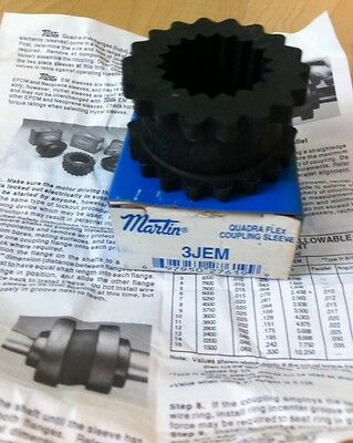 New Martin 3JEM Quadra-Flex Sleeve Coupling
