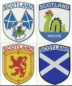 Set-of-4-Scotland-Scottish-Flag-Internal-Car-Window-Sticker-Decals