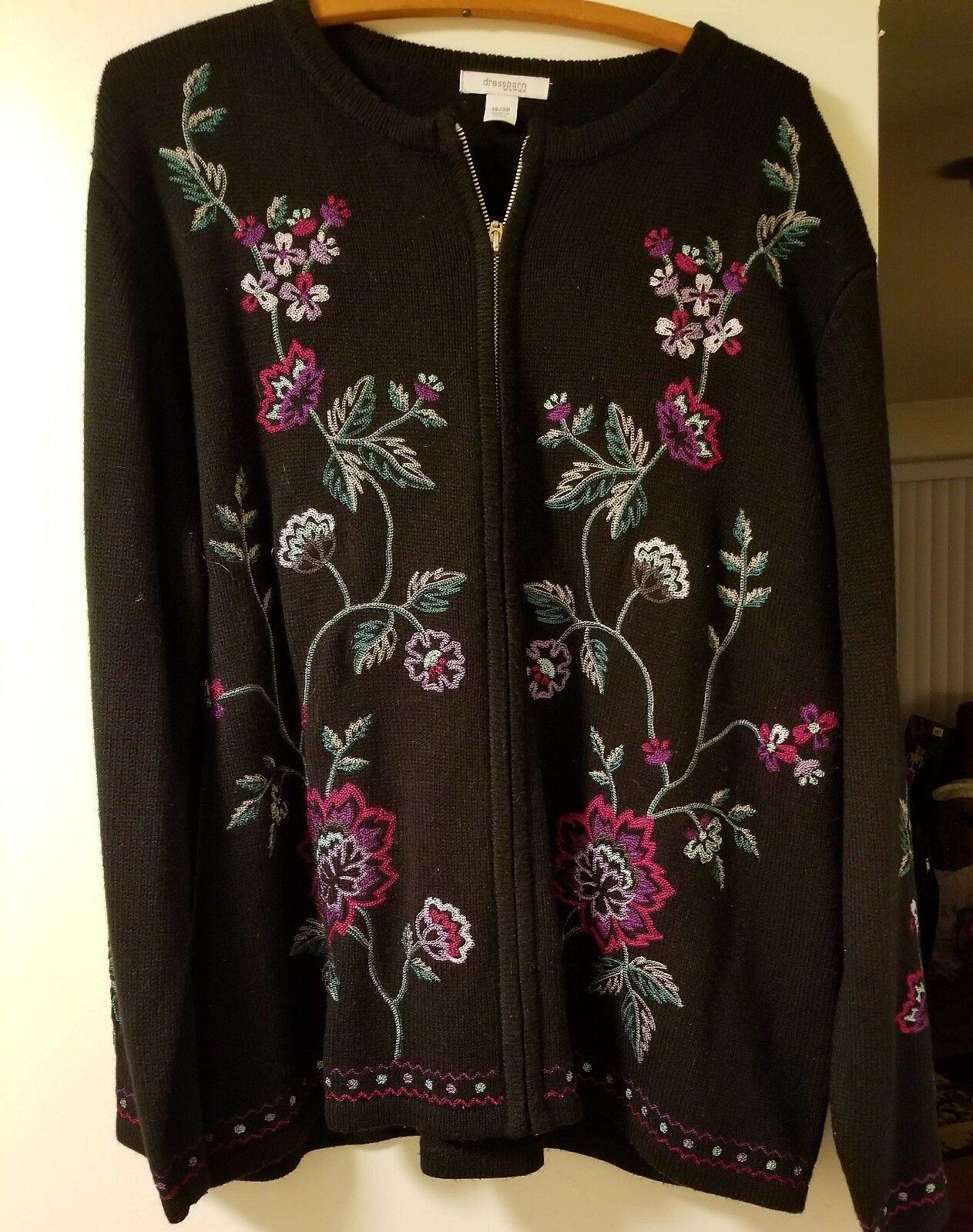 2 size 18W zippered sweaters