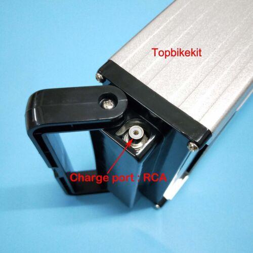 Aluminium Rear Rack Case 36V for ebike battery 18650 cells Battery Box