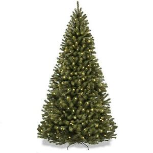 Best Choice Products 7 5ft Pre Lit Spruce Hinged Artificial Christmas Tree W 55 Ebay