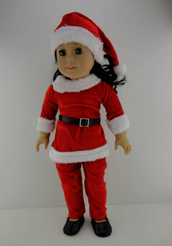 Santa Pant Suit with Matching Hat Designed for 18 Inch Doll Like the Ameri