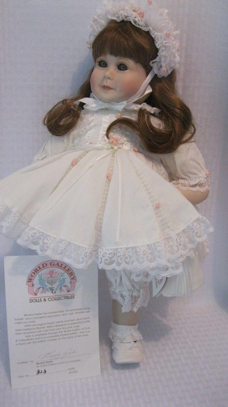 grandi risparmi World Gtuttiery Beverly Parker Porcelain Toddler bambola Kelly Kelly Kelly used w scatola  le migliori marche vendono a buon mercato