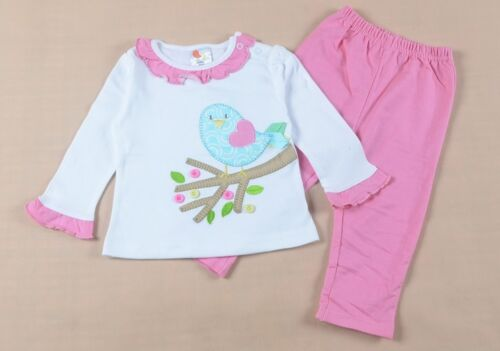Baby Girl Outfit Toddler Cute Bird Set Infant Long Sleeve Suit size 9-24M